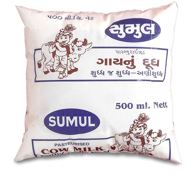 milk packet in india